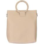 91872 Circle Handle Solid Tote Bag, Camel