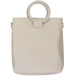 91872 Circle Handle Solid Tote Bag, Beige
