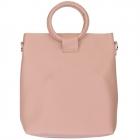 91872 Circle Top Solid Tote Bag, Blushed Pink