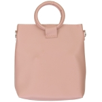 91872 Circle Handle Solid Tote Bag, Blushed Pink