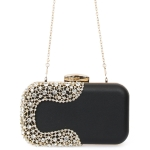 9189 Solid with U-Shape Stone Evening Clutch