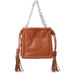 91901 Solid Color Mini Tote Bag, Camel