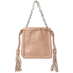 91901 Solid Color Mini Tote Bag, Apricot