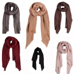 AO558 SOLID OBLONG SCARF