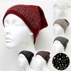 A12002 Metal Stud with Stone Beanie