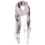 AO591 Floral Scarf, Black