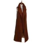AO6073 Long Boucle Vest, Brown