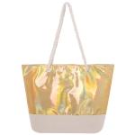 AO760 Hologram Tote Bag, Gold