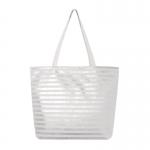 AO803 Metallic Striped Tote Bag, Ivory