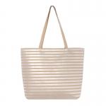 AO803 Metallic Striped Tote Bag, Tan