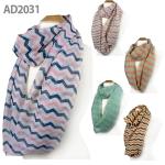 AD2031 3 Tone Stripe Infinity Scarf