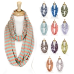 AD3078  Cape May Stripe Infinity Scarf  (2014 NEW)