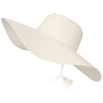 AO346 Solid Floppy Straw Hat, Ivory