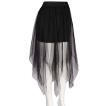 AO1001 Double Layered Tulle Mesh Skirt with Stretchable Band