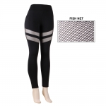 AO1061 BLACK MESH LEGGINGS