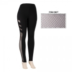 AO1062 BLACK MESH LEGGINGS