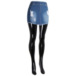 AO1149 Ripped Jean Skirts