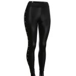 AO1158 Lace&Pearl Accent Leggings