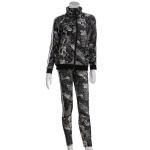 AO1175 Mixed Patterned Track Jacket Leggings Set