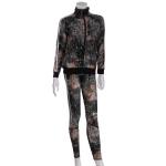 AO1176 Mixed Patterned Track Jacket Leggings Set