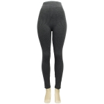 AO1272 Solid Color with Stripes lined Leggings, Grey