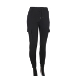 AO1294 Solid Color Legging with Pocket, Black