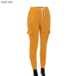 AO1294 Solid Color Legging with Pocket, Mustard