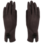 AO231 Gloves W/ Pom Pom, Brown