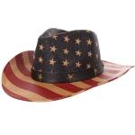 AO3006 Flag Cowboy Hat, Khaki