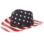 AO3006 Flag Cowboy Hat, White