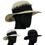 AO301 Lace Trim Boater Hat