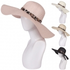 AO3018 Woven Hat W/ Animal Print Belt