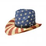 AO3092 Flag Cowboy Hat, Khaki
