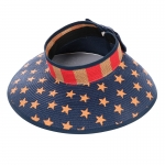 AO3093 America Flag Roll up Visor Hat, Khaki