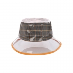 AO3106 Plaid Clear Bucket Hat