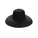 AO3110 Bowler Style Straw Hat, Black