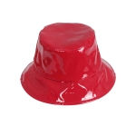AO3120 Solid Color Vinyl Bucket Hat, Red