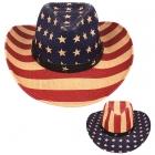 AO339 US Flag Straw Panama Hat