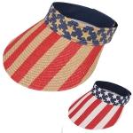 AO342 US Flag Topless Velcro Sun Hat