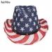 AO344 US Flag Straw Hat