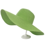 AO346 Solid Floppy Straw Hat, Olive