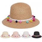 AO354 Multi Color Pom Pom Bucket Hat