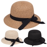 AO356 Bow Trim Boater Hat