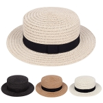 AO357 Straw Boater Hat