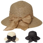 AO363 Woven Hat With Bow
