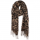 AO5004 Leopard Pattern Scarf with Tassels