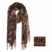 AO5006 Python Pattern Oblong Scarf with Tassels