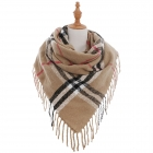 AO5008 Square Checker Plaid Pattern Scarf