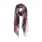 AO5013 Brushed Floral & Leopard Pattern Scarf, Pink