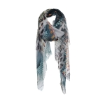 AO5014 Python & Chain Faded Light-weight Scarf, Blue